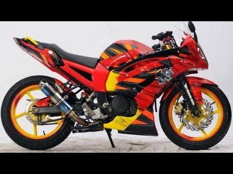 Video Cah Gagah   Video Modifikasi Motor Yamaha Byson Full Fairing Keren Terbaru