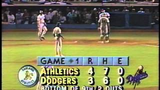 Kirk Gibson's 1988 World Series historic home run-bottom of the 9th
