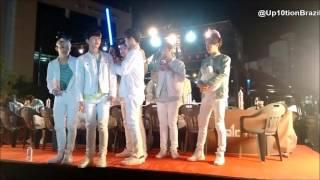 [01/05/16] UP10TION @ Wonju fansign ( Sunyoul e Bit-to dançando samba )