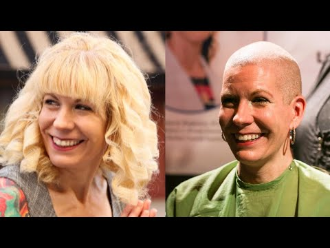 Bride Shaves Head to Honor Mom Who Died of Cancer