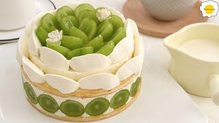 Green raisin cheese mousse cake 青提奶酪慕斯蛋糕 Gâteau  Mousse au fromage et aux raisins verts