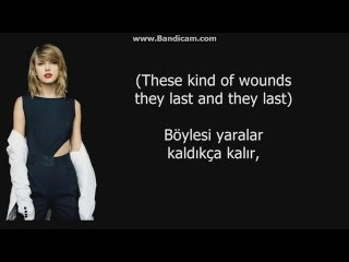 Taylor Swift   Bad Blood Ft. Kendrick Lamar (Türkçe Çeviri +Lyrics)