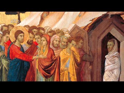 La Résurrection de Lazare de Duccio di Buoninsegna