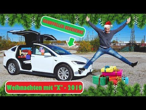 Ein Tesla Model X VOLLER Geschenke: Überraschung für Waisenkinder!