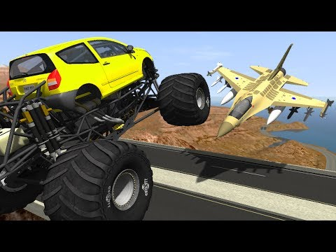 BeamNG Drive Epic High Speed Bridge Jumps #21