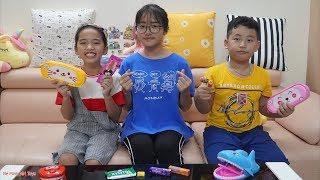 Đồ Ăn Bất Ngờ Trong Túi Đựng Bút - Người Chị Công Bằng Hay Thiên Vị? - Bé Minh MN Toys