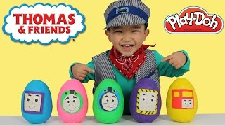Thomas And Friends Play-Doh Surprise Eggs Opening Fun With Ckn Toys
