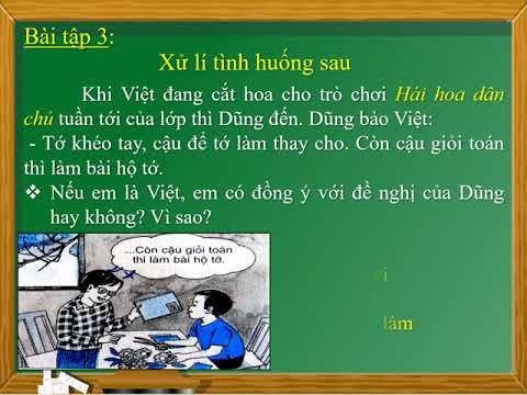 ĐẠO ĐỨC 3 TUẦN 5 BÀI 3 TỰ LÀM LẤY VIỆC CỦA MÌNH TIẾT 1