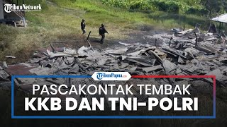 Kondisi Pasca-kontak Tembak KKB dan TNI-Polri di Dusun Kimak, Satgas Nemangkawi Olah TKP