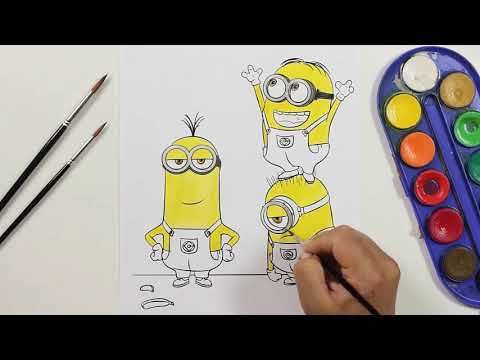 Disegni Minions Stuart A Colori игровое видео смотреть онлайн на