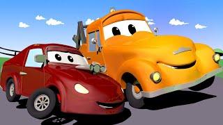 ГОНОЧНЫЙ АВТОМОБИЛЬ малыш Джерри ехал слишком быстро! - Автомобильный Город  🚗 детский мультфильм