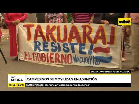 Campesinos se movilizan en Asunción