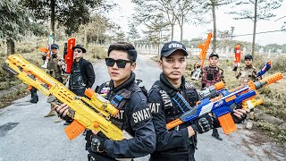 LTT Nerf War : Duo Swat SEAL X Warriors Nerf Guns Fight Criminal Group Dr.Lee Crazy Black