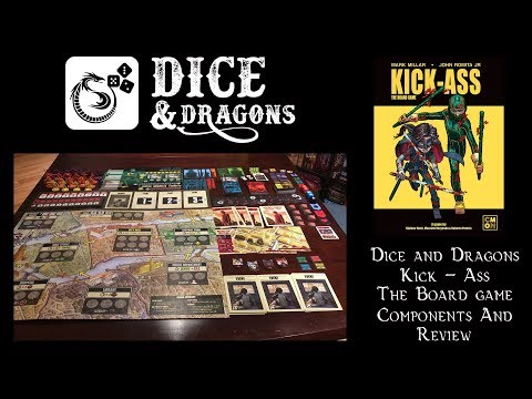 Dice and Dragons - Kick - Ass The Boardgame Components and Review