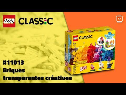 Vidéo LEGO Classic 11013 : Briques transparentes créatives