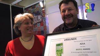 Bericht: Beeple-Award Übergabe für Azul auf der Spielwarenmesse 2018