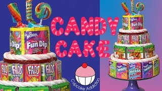 NO-Bake CANDY Cake! The Easiest 4 Tier Birthday Cake Youll EVER MAKE!