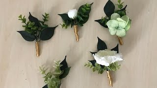DIY: How To Make A Boutonniere Out Of Fake Flowers (Very Real Looking)