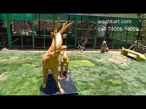 Golden Deer Pair By Waahkart