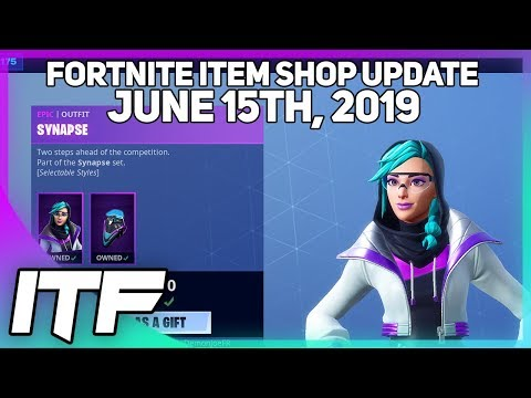 Fortnite Item Shop *NEW* SYNAPSE SKIN SET! [June 15th  2019] (Fortnite Battle Royale)