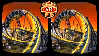VR Roller Coaster 3D VR Video 3D SBS Split Screen for Google Cardboard VR BOX 3D not 360 VR