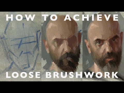 Portrait painting Tutorial - Brushes & How to Achieve Looser Brushwork