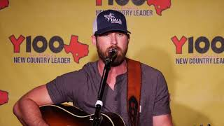 """Riley Green """"Numbers On The Cars"""" Acoustic Live At Y100 August 16, 2018"""
