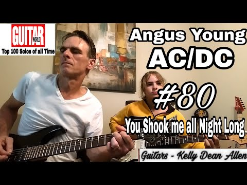 #80 Angus Young/AC/DC - You Shook Me All Night Long Solo Cover By Kelly Dean Allen