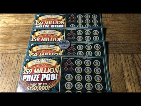 Video dan mp3 Scratching 4 Prize Poo California Lottery Scratchers