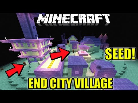 SEED RUMAH VILLAGER DI END CITY !! TOP SEED ! | Minecraft PE