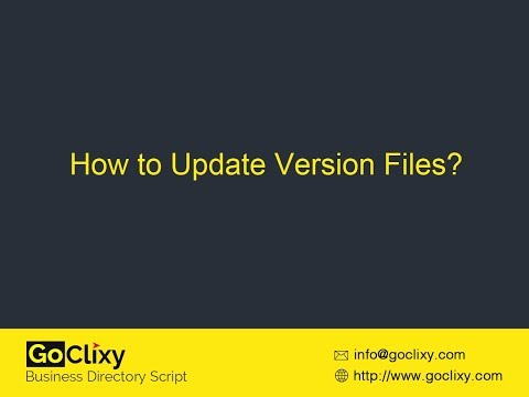 GoClixy - How to Update Version Files?