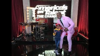 Watch DJ Arch Jnr On Americas Got Talent The Champions Rehearsing Backstage (6yrs old)