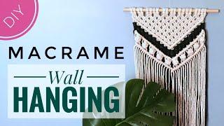 Beginners DIY Macrame Wall Hanging