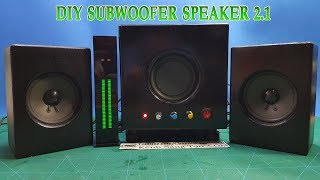 DIY 2.1 Subwoofer Speaker at home - Part 2