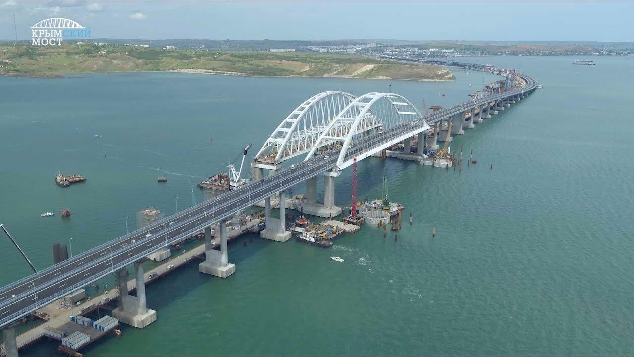 Крымский мост: 27 месяцев строительства за 3 минуты
