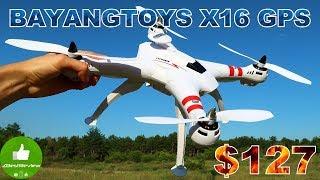 ✔ BAYANGTOYS X16 Лучший Бюджетный Квадрокоптер + GPS! $119.99 Gearbest