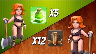 Valkyrie Tournament: Jump vs Earthquake Spell Clan | Epic All Valkyrie Attack | Clash of Clans Spell