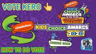 How to do vote in nickelodeon kids choice awards 2020 | Anime Gabru