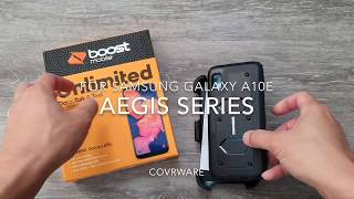 For Samsung Galaxy A10e COVRWARE Aegis Series Holster Case Built-In Screen Protector