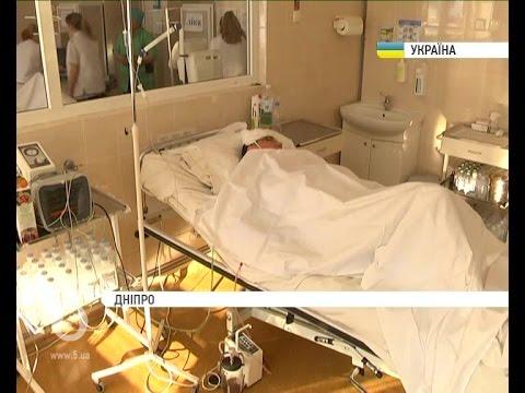 До лікарні імені Мечникова доставили важко пораненого бійця АТО