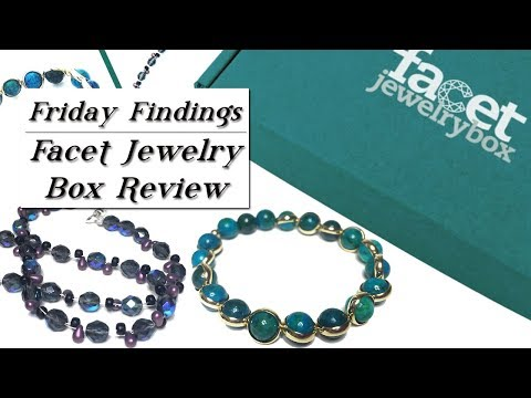 Facet Jewelry Box Review-Framed Gemstone Bracelet & Split Strung Necklace-Friday Findings