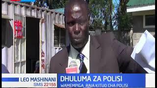 Polisi wawili wadaiwa kumpiga raia mmoja katika kituo cha polisi huko Eldoret
