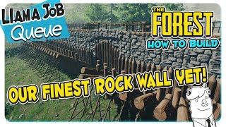 The Forest | How To Build The Best Defensive Wall |