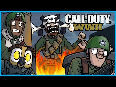 Call of Duty: World War II Funny Moments! - Panda Rage, Triple Grenade, and Trap Defuse Fail! (WW2)