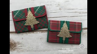 Pretty Plaid Gift Card Holders