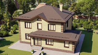 Проект дома 186-A, Площадь дома: 186 м2, Размер дома:  14,1x12,8 м