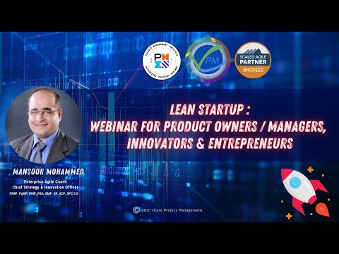 Lean Startup: Webinar for Product Owners Managers, Innovators ...