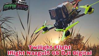 Iflight 6S Nazgul5 HD MK 2,Twilight Flight Winter Wonderland Hypersmooth,FPV drone, Freestyle snow.