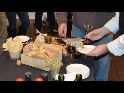 A wine and cheese party at the new 3130 N Lake Shore Drive