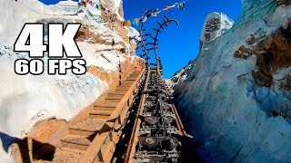 4K 60FPS Expedition Everest Roller Coaster Multi Angle POV Walt Disney World Animal Kingdom Ultra HD